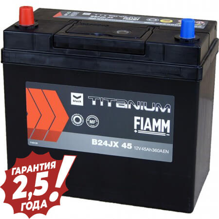 Аккумулятор Fiamm Japan - B24JX 45Ah 360A (узкая клейма)
