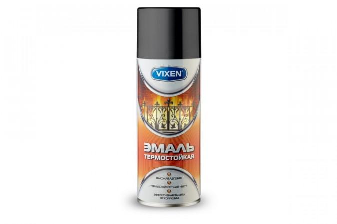 Термостойкая эмаль Vixen черная аэрозоль 520 мл VX-53002