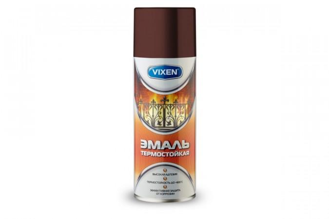Термостойкая эмаль Vixen красно-коричневый аэрозоль 520 мл VX-53005