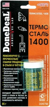 """Термостойкий ремонтный герметик """"Термосталь 1400"""" 85 г"""